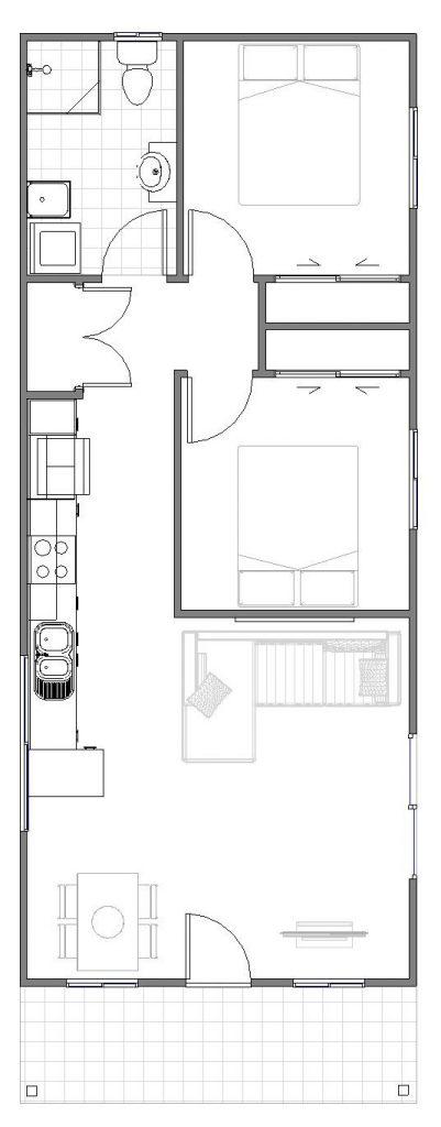 Granny Flat compact floor plan