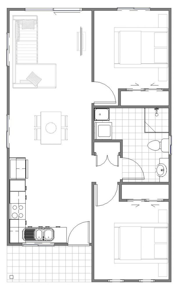 Granny Flats Contemporary Floor plan
