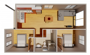 Granny Flat Contemporary Top View