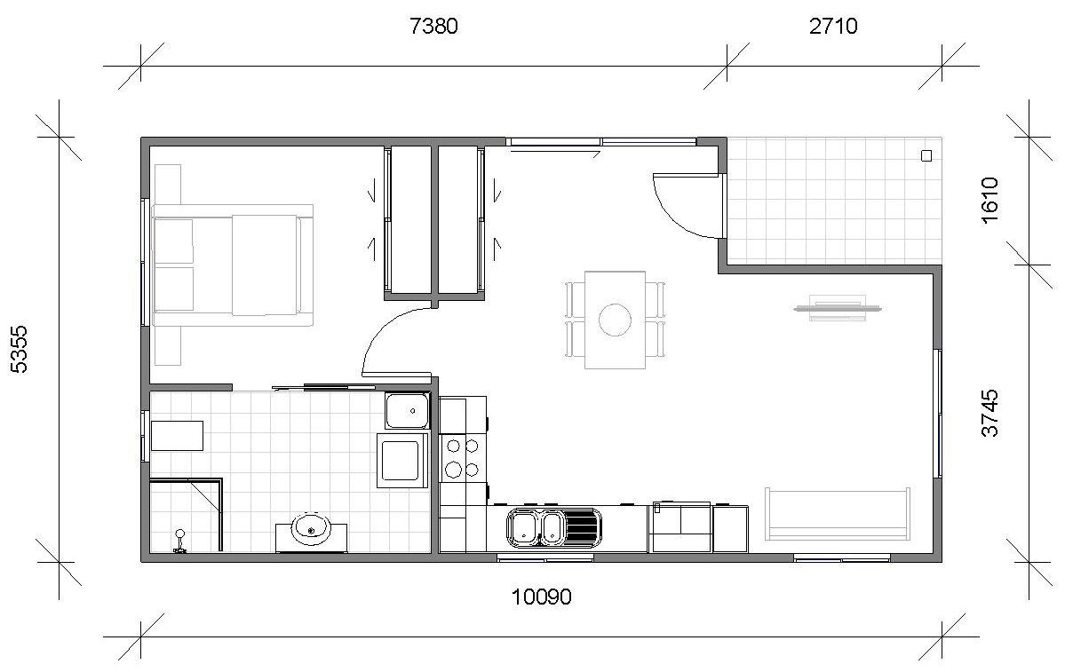 Granny Flats Donna Floor plan