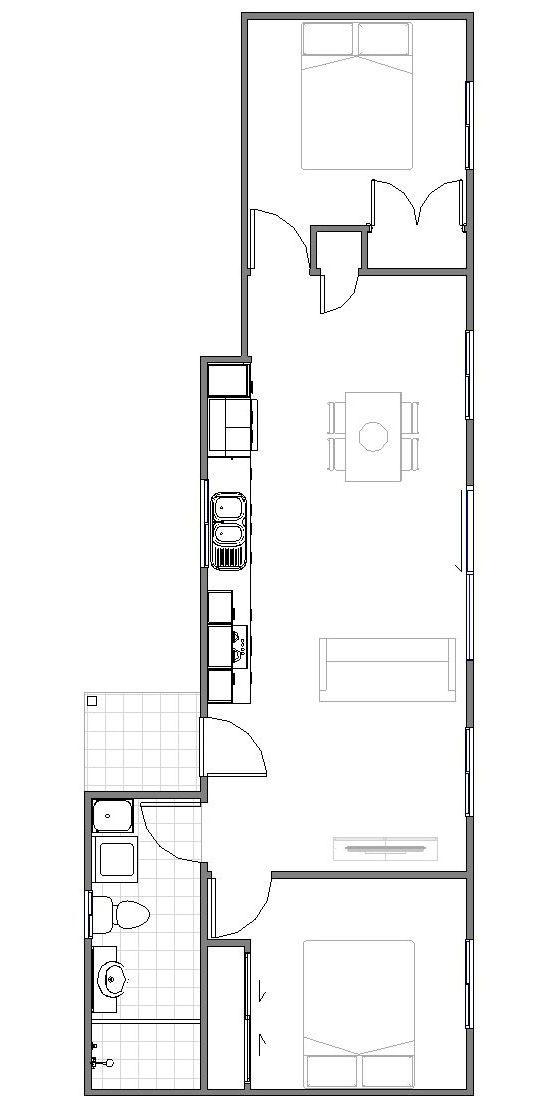 Granny Flat Fino Floor plan
