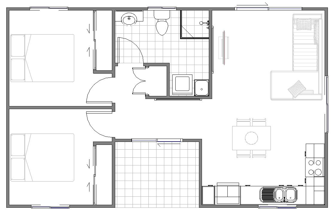 Granny Flats Bari Floor planDesign