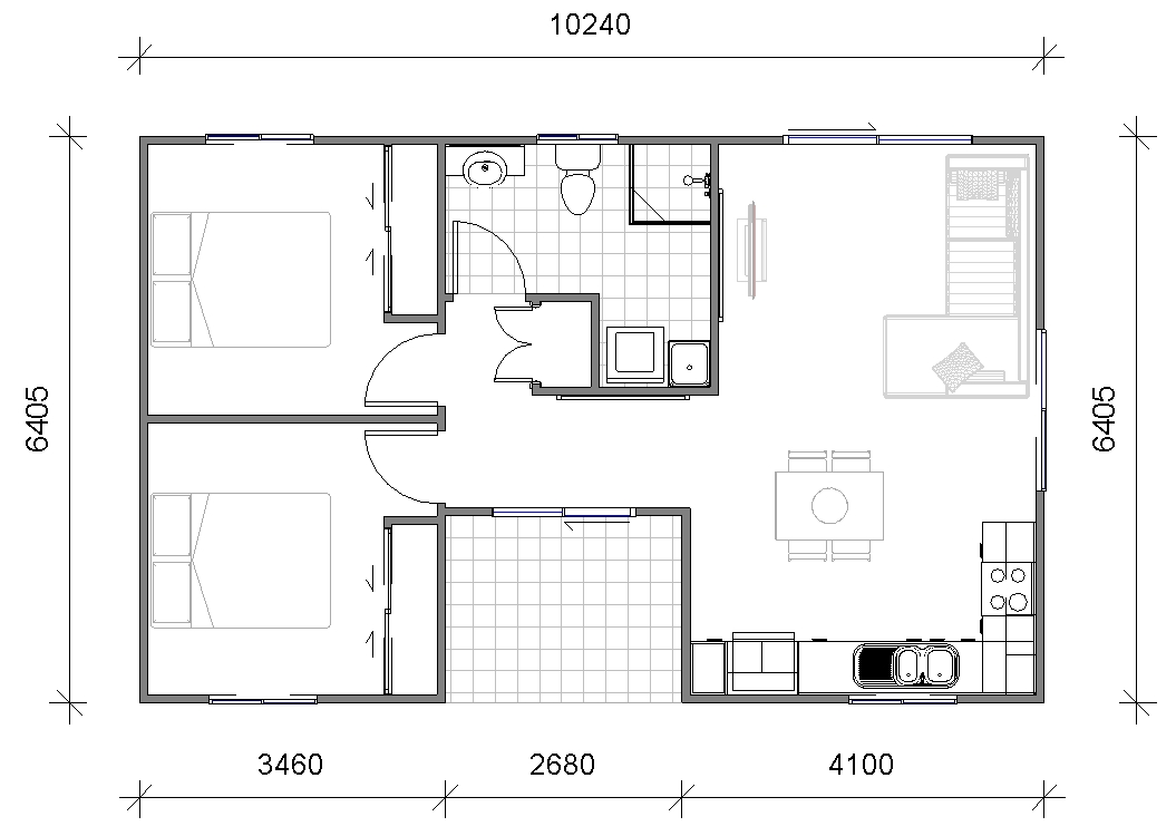 Granny Flats Bari Floor plan Design