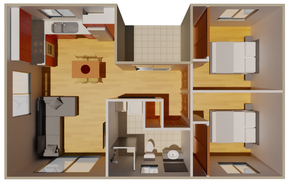 Granny Flat Bari Top view