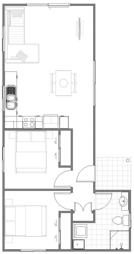 Granny Flat Luca floor plan
