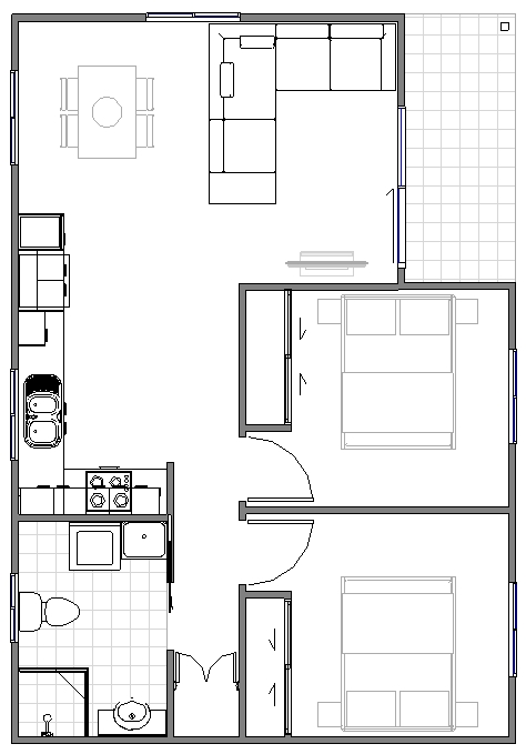 Granny Flat Seniore Floor plan