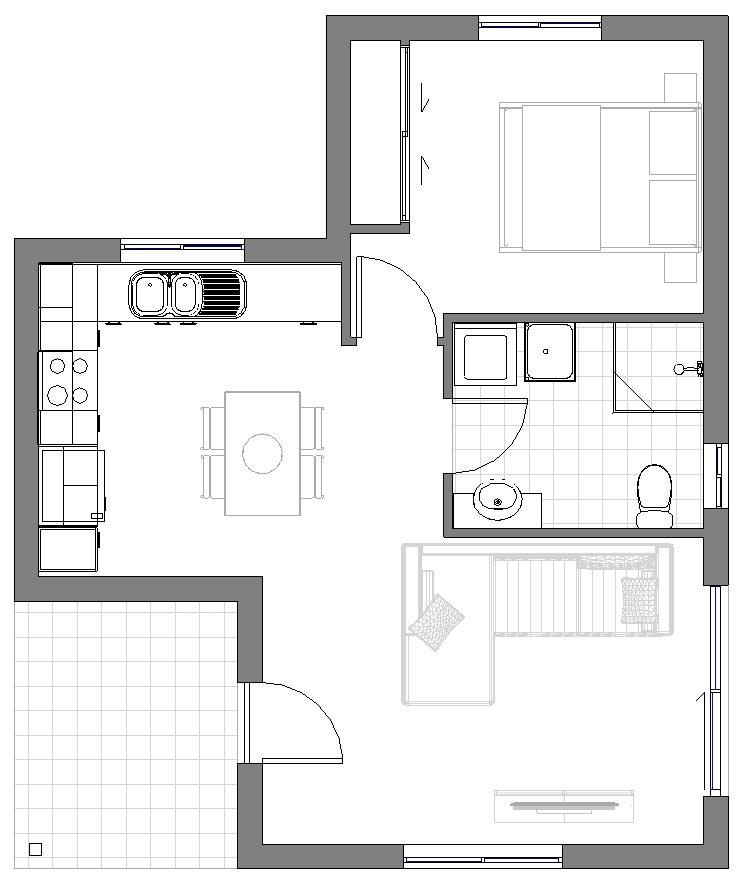 Granny Flat Tristani Floor Plan