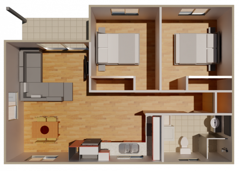Granny Flat Seniore top view