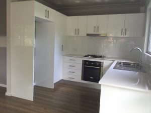 granny flat kitchen and meals area