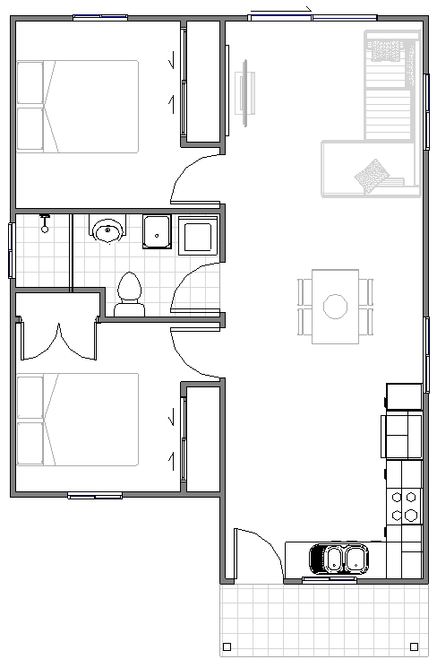 Granny Flat Bello Floor plan