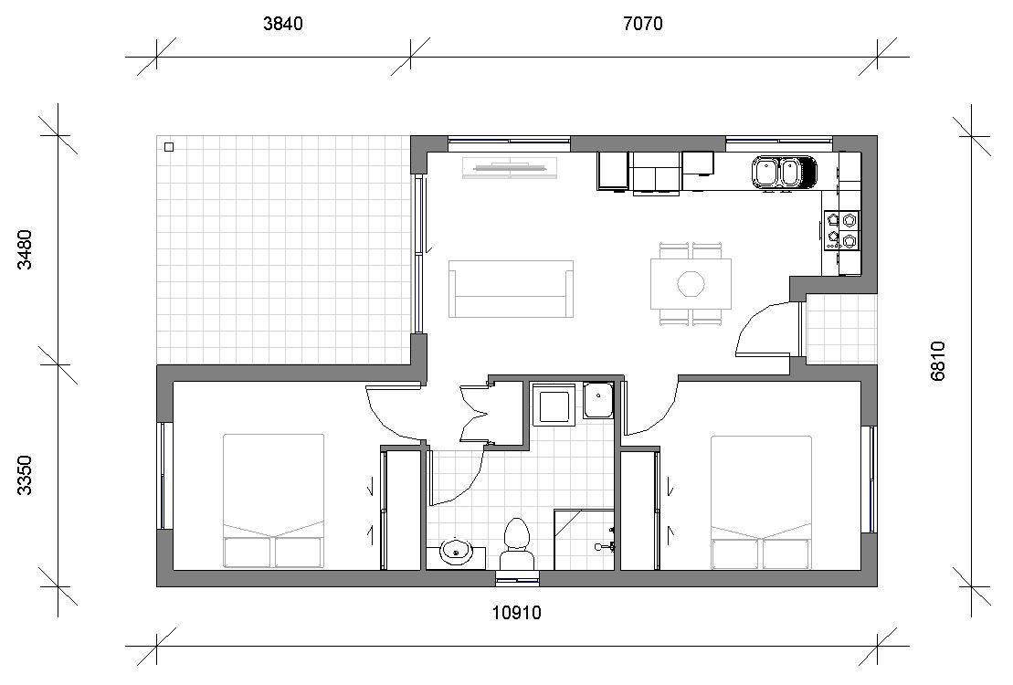 Granny Flats Raj Floor plan